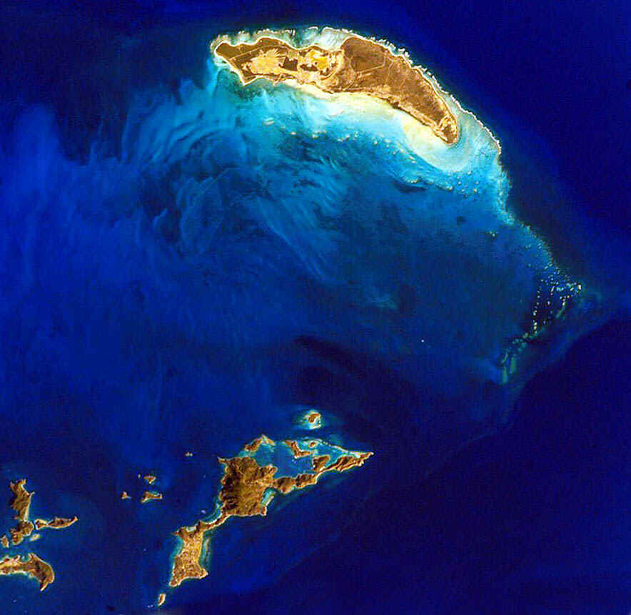 Anegada to Virgin Gorda as seen from the International Space Station