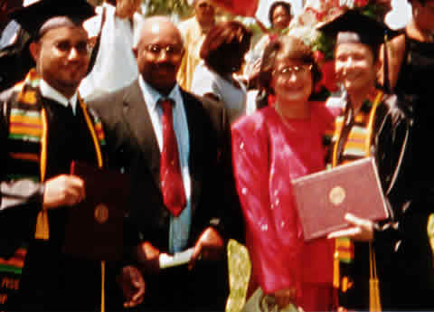 Lawrence, Lowell, Vivian, and Lorraine at the graduation ot Lawrence and Lorraine from Bethune-Cookman College